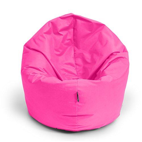 BuBiBag Sitzsack 2 in 1 Funktion Sitzkissen mit EPS Styroporfüllung 32 Farben Bodenkissen Kissen Sessel Sofa (125cm, Pink)