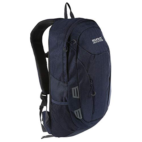 Regatta Altorock II Hardwearing Comfort Travel Rucksack - Blue Herringbone, 25 Litre