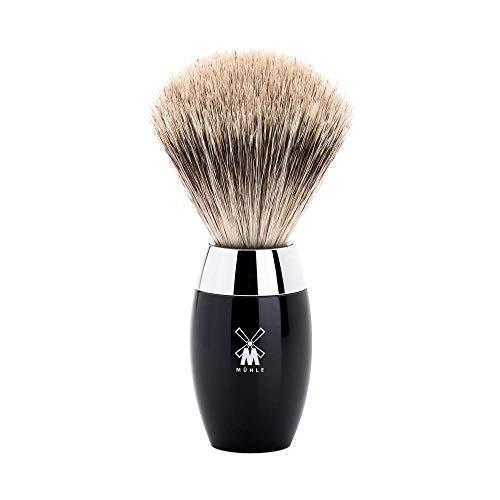 Mühle Serie Kosmo M de tejón Fine Badger con nudo 21mm y mango de resina negra