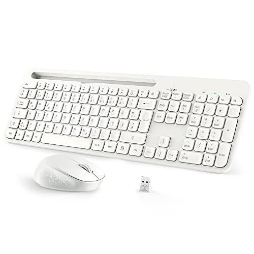 Tastatur Maus, TedGem 2.4G USB Tastatur und Maus Ergonomisch, Laptop Tastatur Kabellos, Tastatur Maus Set, Funk Tastatur Maus Set 2 in 1 USB Wireless Tastatur Maus für PC/Computer/Smart TV