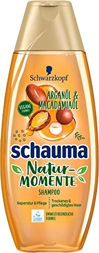 SCHWARZKOPF SCHAUMA Natur-Momente Shampoo, Marokkanisches Arganöl & Macadamiaöl, 1er Pack (1 x 400 ml)