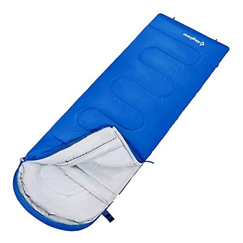 KingCamp Decken Schlafsack Oasis 300 Sommer Camping Outdoor 2,2 m Lang&Breit -13 Royal Blue - Zipper L