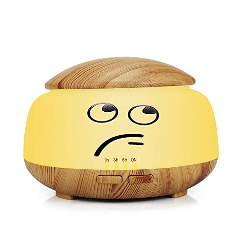 LYXLQ Aroma Diffusor Luftbefeuchter, Holzmaserung Ultraschall stumm Pinzette Aroma Luftbefeuchter USB Mini Zerstäuber Luftbefeuchter,D