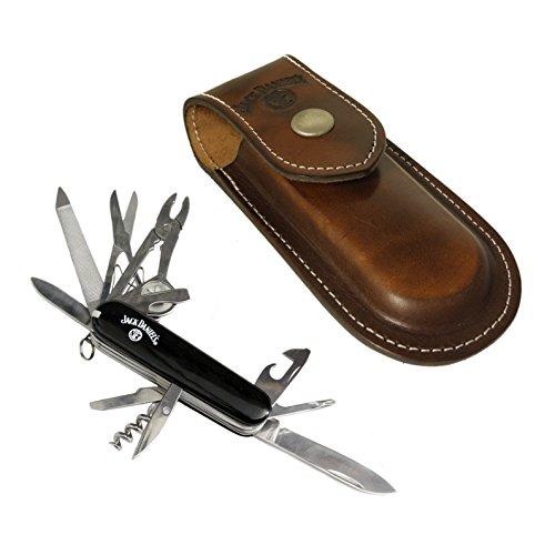 Jack Daniel apos;s 15Stück Taschenmesser Multitool Western Leder Fall