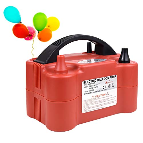 Vinsani Powerful 600W Balloon Inflator Electric Pump - Portable Dual Nozzle Electric Balloon Blower for Party, Wedding, Birthday, Promotional Activities and Festival Decoration