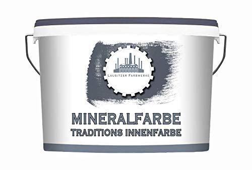 Lausitzer Farbwerke traditionelle Mineralfarbe weiß Silikatfarbe - Dispersionssilikatfarbe weiss matt (10 L)