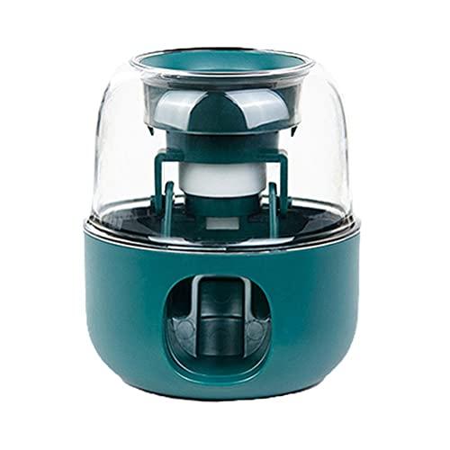 OTentW Dispensador automático de Pasta de Dientes Adultos, exprimidor de Pendientes Murales montados en la Pared sin punzón para baño de baño (Verde)