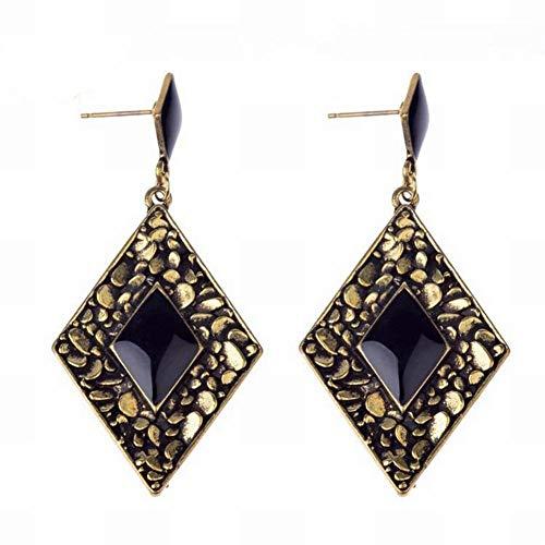 Stijlvolle eenvoud Oostenrijkse kristal stijlvolle eenvoud stijlvolle eenvoud oorbellen diamant oorstekers vierkante ladder multi-layer sieraden, afgebeeld, ZS