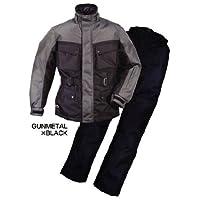 ラフアンドロード(ROUGH&ROAD) バイクジャケット エキスパートウインタースーツ ガンメタ/ブラック L RR6515