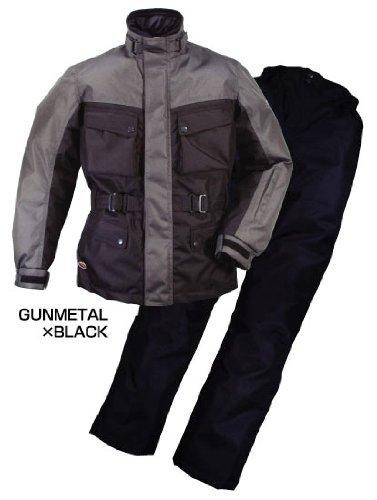 ラフ&ロード エキスパート ウインター スーツ 防寒 防風 防雨 上下セット ガンメタ×ブラック  Lサイズ RR6515 GM/BK-L