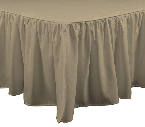 Brielle 807000214259 Stream Bed Skirt, Queen, Linen