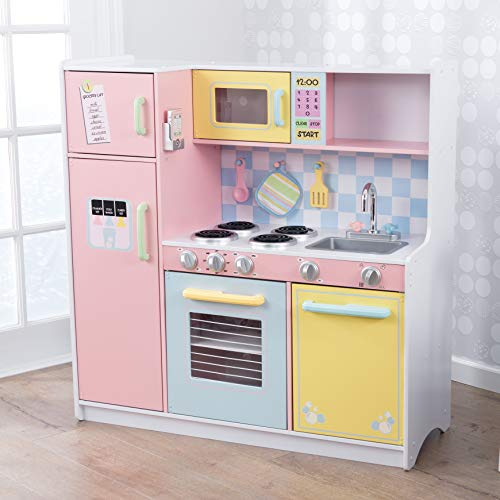 KidKraft Large Kitchen is the best wooden play kitchen for taller kids