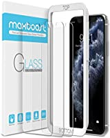 Maxboost Screen Protector for Apple iPhone Xs & iPhone X & iPhone 11 Pro (3 Packs, Clear) 0.25mm Tempered Glass Screen...