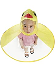OHQ Impermeable NiñOs Little UFO Pato Amarillo Chubasquero Cute Rain Coat Paraguas Sombrero MáGico Manos Libres Impermeable Botas Lluvia Paraguas Abrigos Impermeables