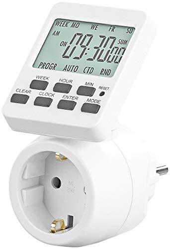 revolt Digitale Schaltuhr: Digitale Zeitschaltuhr mit 180° rotierbarem LCD-Display, 3.500 Watt (Elektrische Zeitschaltuhr)