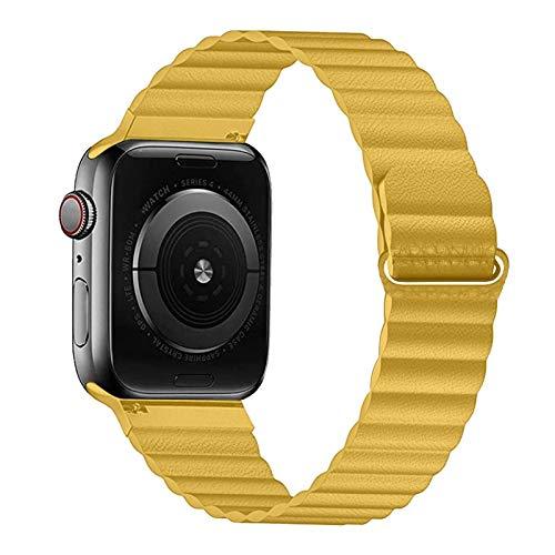 YGGFA Correa de piel sintética para Apple Watch Band 44mm 40mm Reemplazo para iWatch Series 6 5 4 3 2 pulseras 42mm 38mm pulsera reloj pulsera
