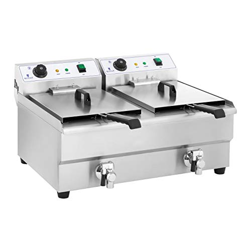 Royal Catering Freidora Electrica Profesional Doble RCEF 16D