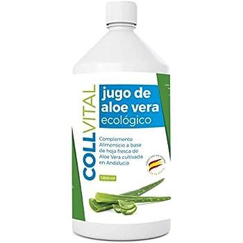 Aloe vera puro para beber con pulpa natural/zumo 99.5% aloe vera con certificación Bio y ecologico/bebida de jugo de aloe vera organico fabricada en España 1 litro: Amazon.es: Salud y cuidado personal