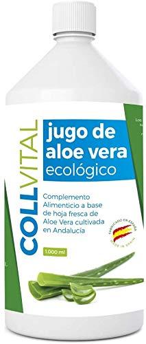 Aloe vera puro para beber con pulpa natural/zumo 99.5% aloe vera con certificación Bio y ecologico/bebida de jugo de aloe vera organico fabricada en España 1 litro