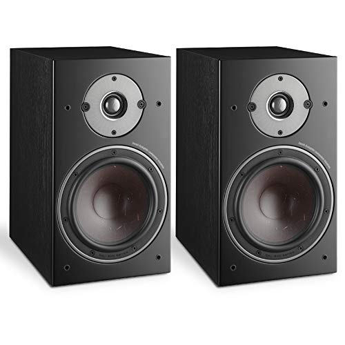 "DALI Oberon 3 2-Way 150W RMS Stand-Mount Bookshelf Speaker with 7"" SMC Based Wood Fibre Cone Woofer and 29 mm Soft Dome Tweeter - Black Ash (Pair)"