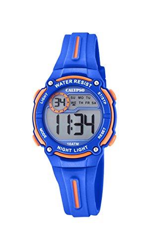 Calypso Jungen Chronograph Quarz Uhr mit Plastik Armband K6068/3