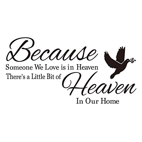 KYSUN Because Someone We Love is in Heaven There's a Little Bit of Heaven in Our Home Dove Olive Branch