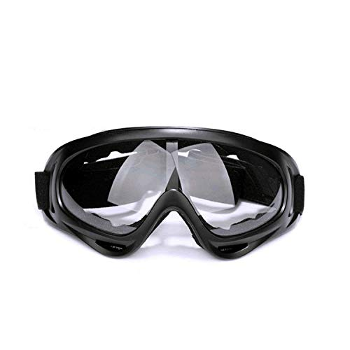 MeterMall Auto For Motorcycle Goggles Ski Glasses UV Protection Sport Snowboard Skate Skiing Goggles Black frame gray lens