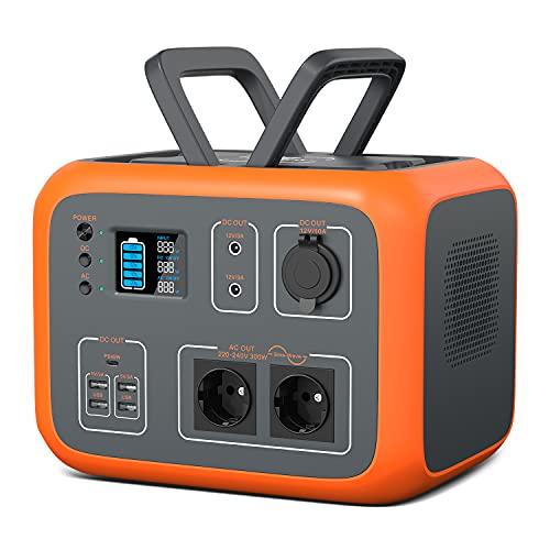 PowerOak Tragbare Powerstation 500Wh mit 230V Steckdose Mobiler Stromspeicher Solar Generator für Reise Camping Garten wohnwagen Notstromaggregat