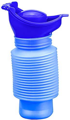 Urinario de Emergencia, Orinal Urinario Portatil de 750ML para Adultos Niños Autocaravanas Viajes y Tráfico Atasco - Azul ⭐