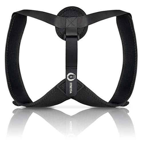STREYDA Premium Rücken Geradehalter - Haltungstrainer zur Haltungskorrektur- Verblüffend angenehme Rückensstütze für eine gesunde Körperhaltung und linderung der Rückenschmerzen. Für jedes Alter!