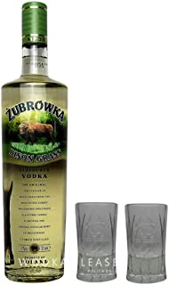 ubrówka Bison Grass Vodka  2 x Original ubrówka Shot Glas