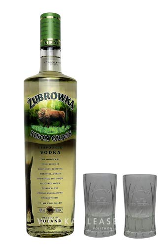 Żubrówka Bison Grass Vodka + 2 x Original Żubrówka Shot Glas