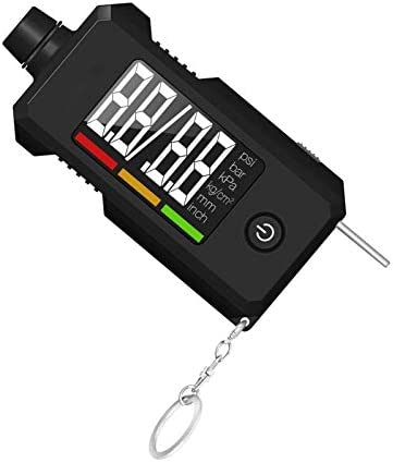 Tyre Pressure Gauge and Tread Depth Gauge 2 in 1 Digital Tire Gauge with Key Chain for Cars product image