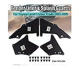 Protector contra salpicaduras para Toyota Land Cruiser Prado J120 J150 2003 – 2020 LC3 LC4 LC5 delantal con cierre de guardabarros con clips