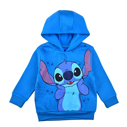 Disney Lilo and Stitch Pullover Hoodie for Boys and Girls, Kid's Hooded Sweater, Light Blue, Size 7