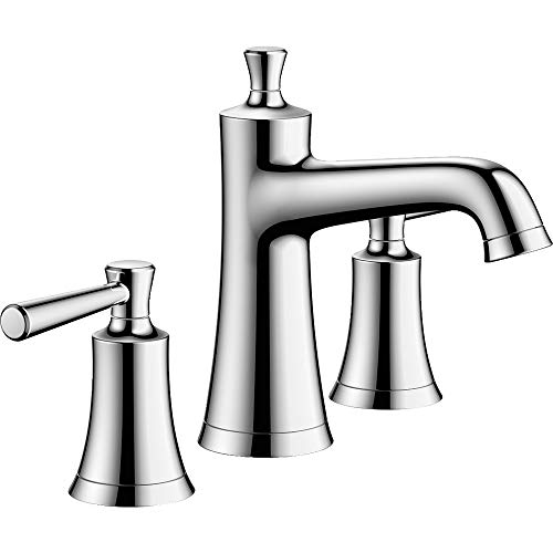 hansgrohe Joleena Transitional 2-Handle 3-Hole 7-inch Tall Bathroom Sink Faucet in Chrome, 04774000