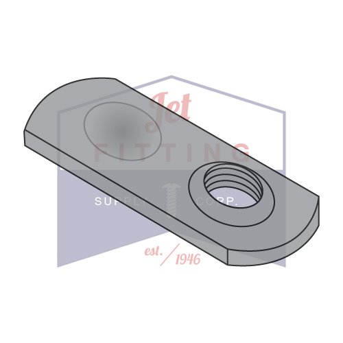 3/8-16 Spot Weld Nuts   Thin Target Area   Offset Hole   Low Carbon Steel   Plain Finish   for Welding to Thinner Stock (Quantity: 1000)