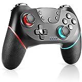 CHEREEKI Mando Inalámbrico, Controlador Switch, Controlador Inálambrico Azul para Nintendo Switch Gamepad Mando de Juegos (Función de Eje giroscópico de Soporte) (Rojo-Azul)