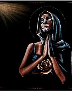 Prayer Marco Almera Framed Art Print Tattooed Woman Virgin Mary Sugar Skull