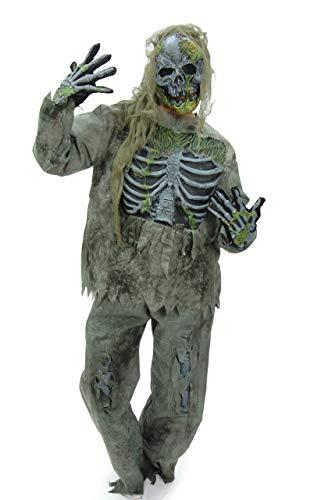 MKS Faschingsköstüm Zombiekostüm Skelettkostüm -schaurig, gruselig und erschreckend - in verschiedenen Größen und Motiven (Skeleton Zombie, L/XL)