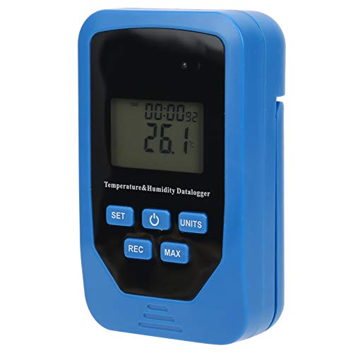 Registrador de temperatura, registrador de datos de humedad profesional, termómetro digital, portátil para laboratorio industrial