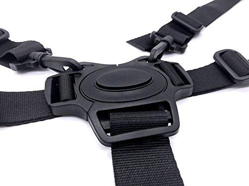 iZoeL Imbracatura 5 Punti Bambini Cintura di Sicurezza Carrozzina Regolabile Con 2 Pads Spalla