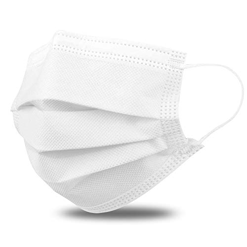 Disposable Masks 50 Pcs, AXHKIO Face Mask, Ship from the US, Anti Dust, Breathable (WHITE)