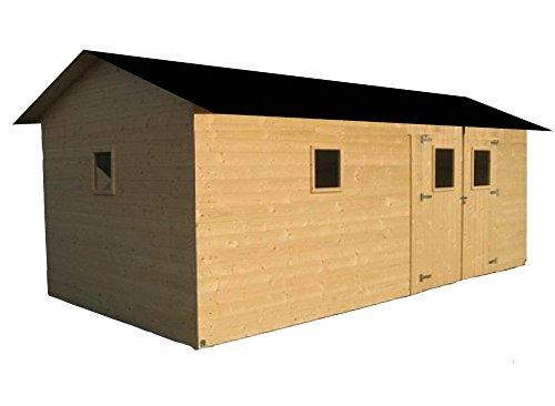 CADEMA - Casa de madera para jardín de 3, 3 m x 6, 3 m, (16 mm) con ventanas, incluye suelo - Modelo: Alacant: Amazon.es: Jardín