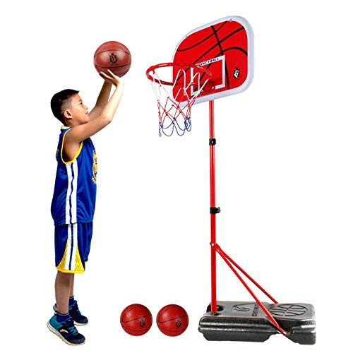 Basketball Hoop Canastas de Baloncesto Exterior, Altura Ajustable Canasta Baloncesto Infantil con Soporte y Tablero, Juegos Aire Libre para Niños
