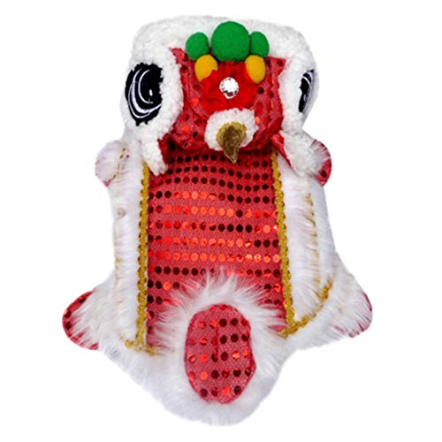 Pannow Hond Kostuums, Chinese Stijl Draak Dans Leeuw Huisdier Hond Kleding Draak Dans Hond Festival Rood Lucky Cosplay Kostuum, 12, Rood
