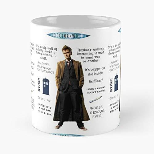 Berealandco Tennant Tardis Lord Time Quotes Dr David Who Tenth Doctor Travel Best 11 oz Kaffeebecher - Nespresso Tassen Kaffee Motive
