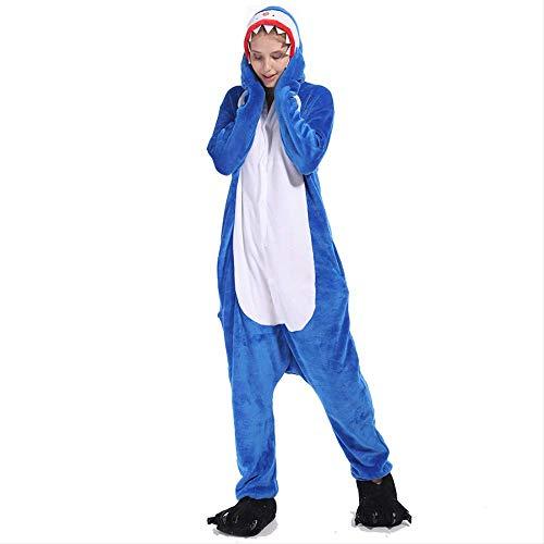 baratos y buenos Pareja de franela en pijama de tiburón Cartoon House S Mujer Dos franelas siameses… calidad