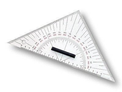 Kursdreieck klein - 26 cm Navigation Dreieck