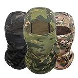 Freesom Lot de 3 Cagoule Camouflage Chasse Commando Militaire Adulte Moto 3D Français...